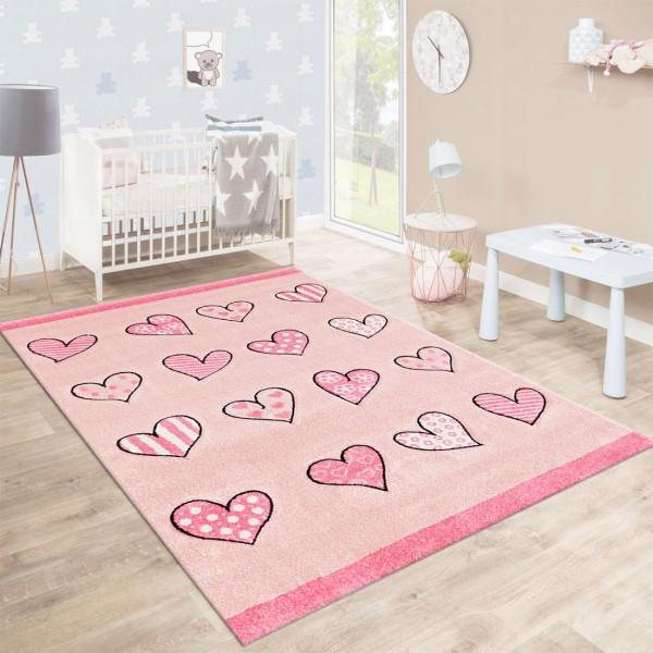 Festival Rainbow Line Teppiche | Kinderteppich | Polypropylen | Pink