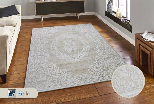 Siela Lina City Teppich | Grau Creme