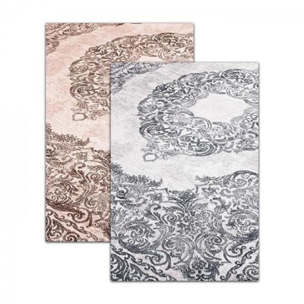 Siela | Modern | Waschbare Latex Teppiche | Beige Grau