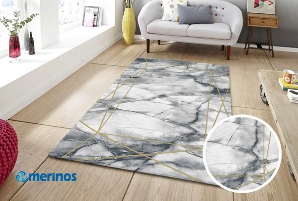 Merinos | Marble | Moderne 3D Teppich | Gold