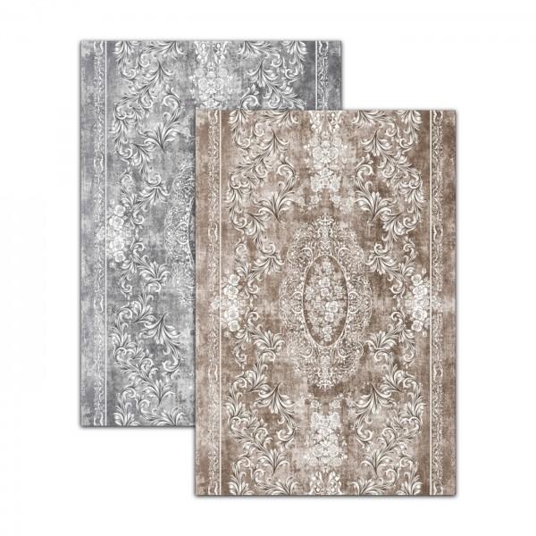 Dinarsu | Sunshine Series | Abwaschbarer Teppich | Polyester | Grau