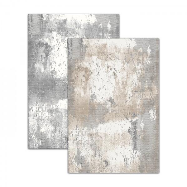 Merinos | Tresor | Teppich | 100% Polyacryl | Sand & Grau