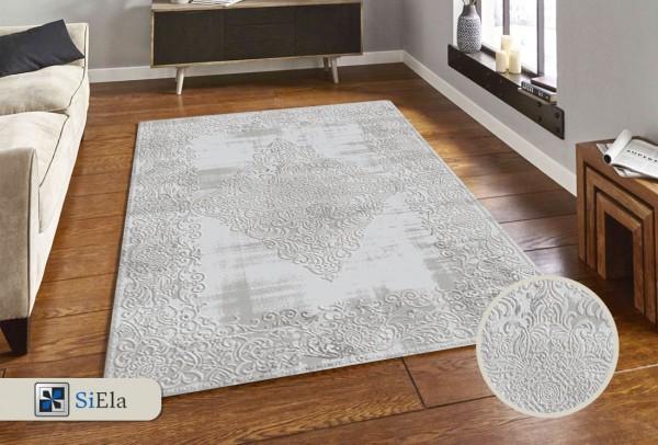 Siela Place Town Teppich | Grau Blau