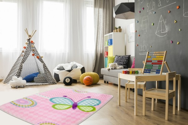 Obsession Nice Nest Collection Kinderteppich Soft Polyester | Pink