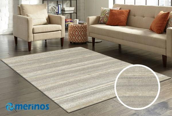 Merinos Over Form Teppich | Beige Grau
