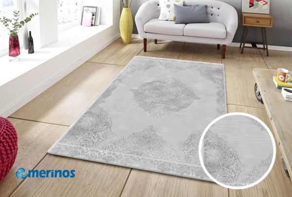Merinos New Style Classic Teppich | PP Heatset & Polyester | Grau