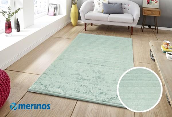 Merinos Clean Day Abwaschbarer Teppich | Mint Rose Sun Grau Weiß