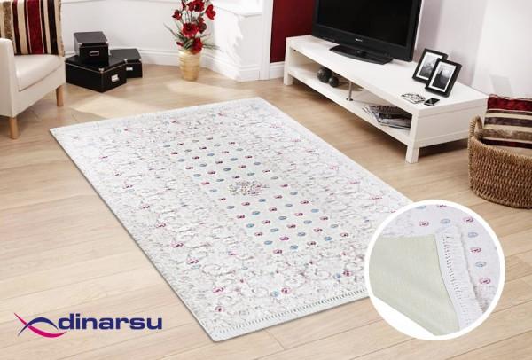 Dinarsu Summer Waschbarer Teppich | Cream