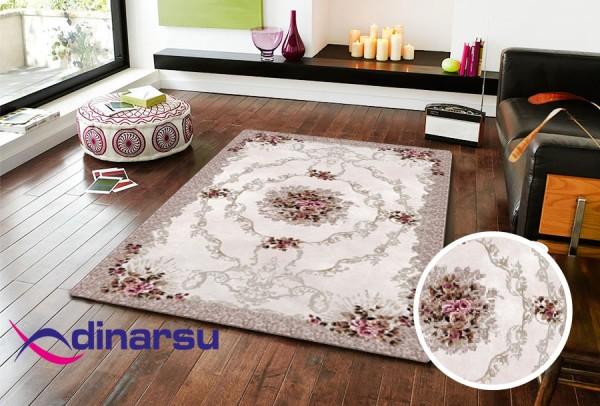 Dinarsu Summer Waschbarer Teppich | Creme
