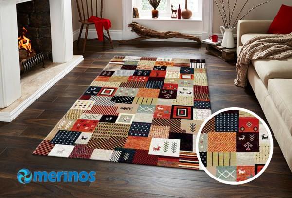 Merinos East Life Teppich | Mehrfarben