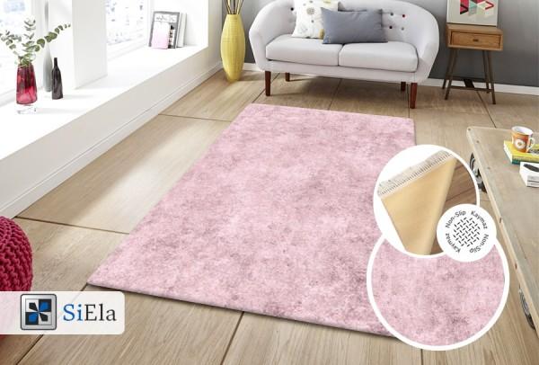 Siela | Waschbarer Teppich | Latex | 100% Polyester | Pink | S-1110-Pink