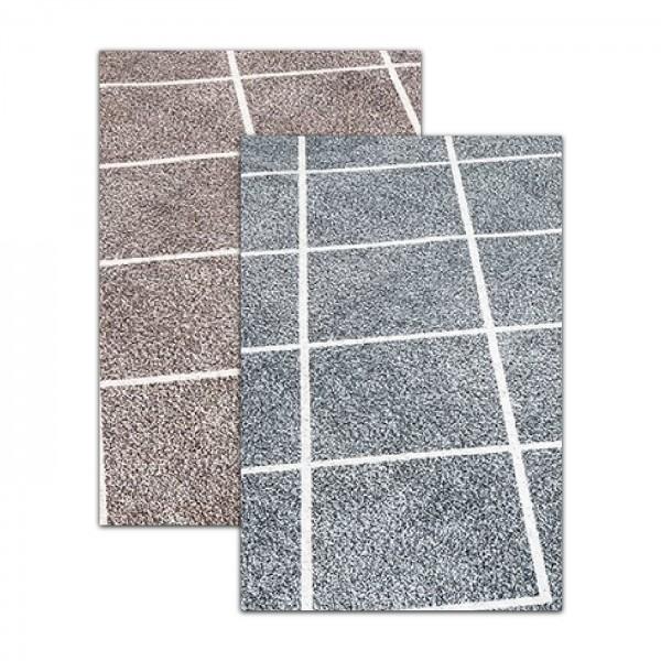 Siela | Lines | Waschbare Latex Teppiche | Beige Grau