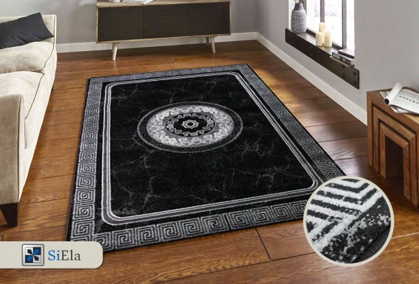 Siela Rosa May Teppich | 100% PP Heatset | Grau