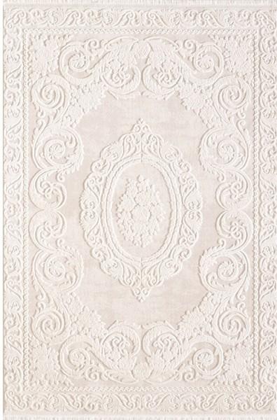 Flora Olive Style Teppich | Beige Braun Grau