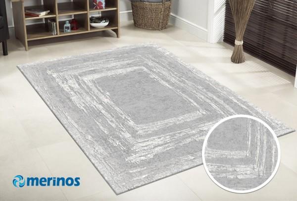 Merinos Solo Hill Teppich | Polyacryl | Grau