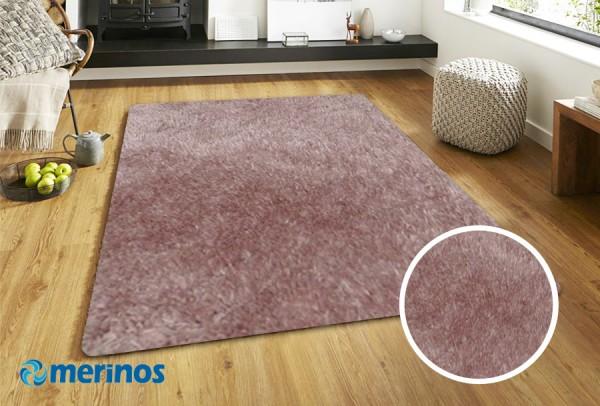 Merinos New Emotion Hochflor Teppich | Lila Beige Antracite Silber Weiß