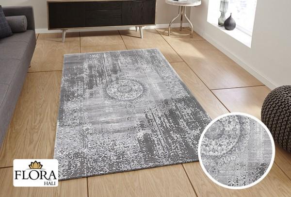 Flora | Gökce Collection Teppich | Polyacryl | Grau | 80x150 | F-3852A