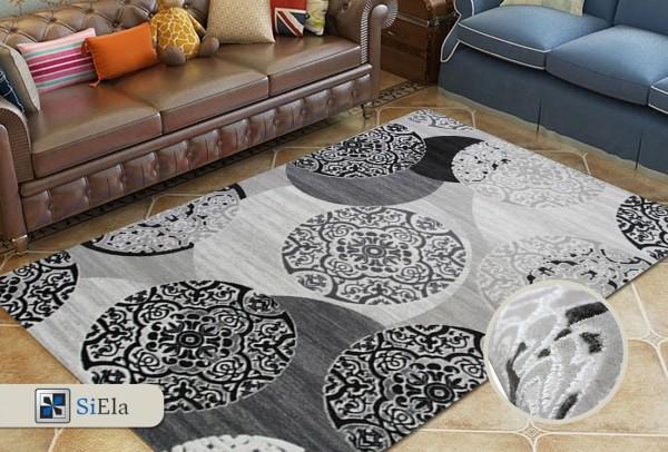 Siela Free Park Teppich | Grau Pink