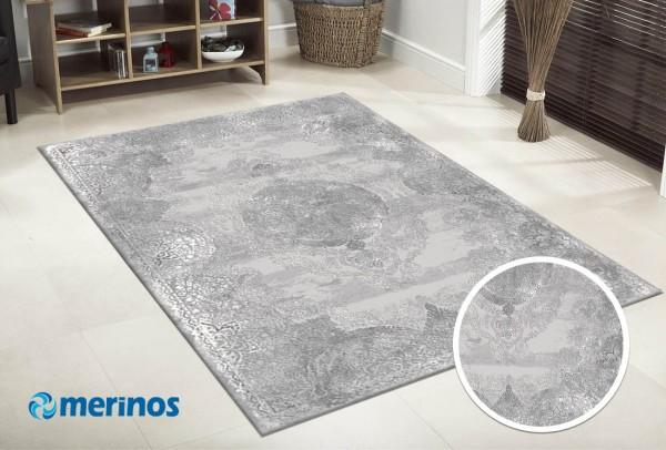 Merinos Solo Hill Teppich | Polyacryl | Grau Sand