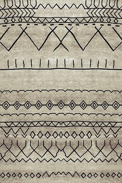 Merinos Natural Vintage Teppich | Beige