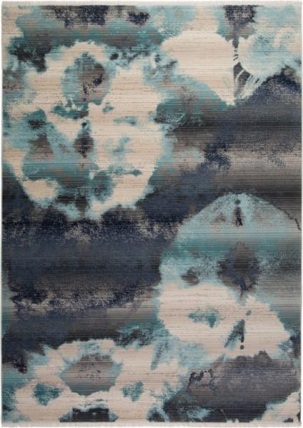 Obsession Emerald Vintage Teppich | Grau Blau