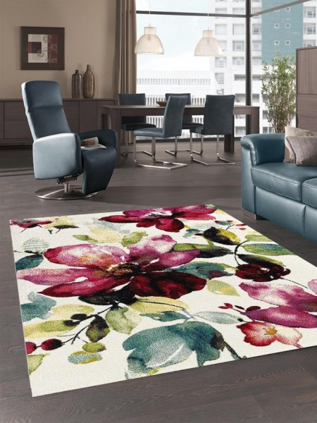 Merinos | Design Teppich | Belis | Multi Rosen | M-21854-60
