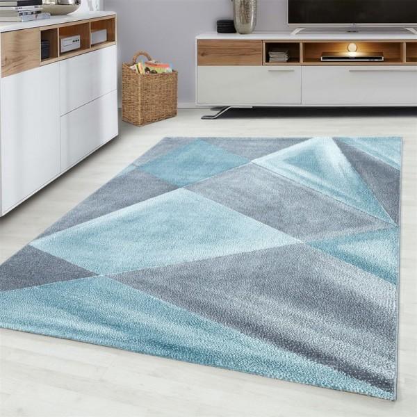 Ayyildiz | Triangle | Teppiche | 100% PP Friese | 7mm | 2300gr | Blau