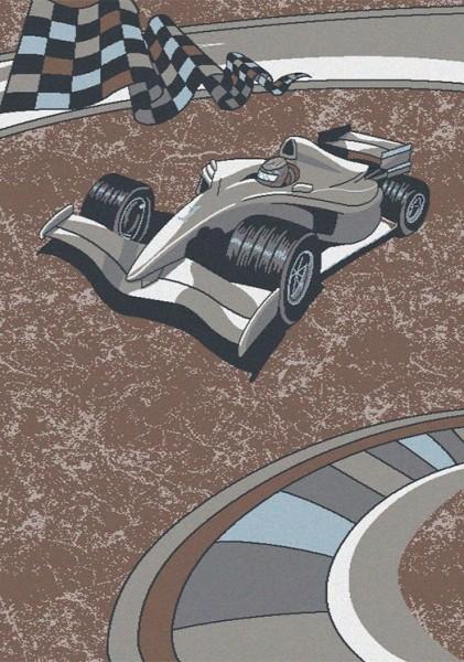Flora Funny Area Kinderteppich | Race Car
