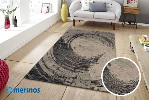 Merinos Natural Vintage Teppich | Braun