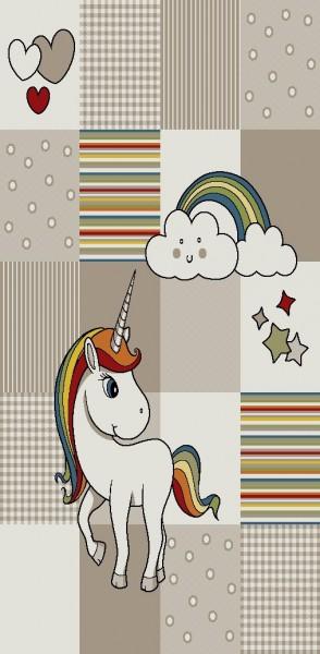 Merinos Art Kids Kinderzimmer Mädchen Teppich Flying Horse |Multicolor Beige