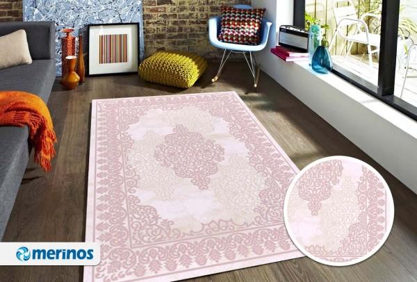 Merinos Line Design Teppich | Heatset | Modern | Türkis Rose