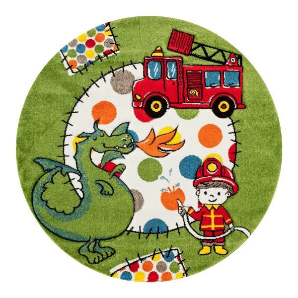 Festival Rainbow Line Teppiche | Kinderteppich | Polypropylen | Grün