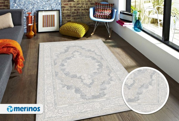 Merinos Sophistic Teppich | Grau | M-24054-95-Grey
