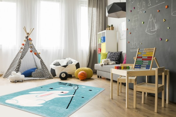 Obsession Nice Nest Collection Kinderteppich Soft Polyester   Blau