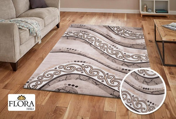 Flora Eleysa Collection Teppich | Polypropylen | Lurex Heatset | Creme