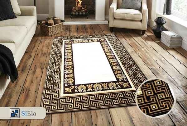 Siela Cast Light Teppich | Braun