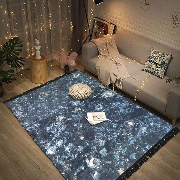 Siela | Milky Way | Waschbarer Teppich | Schwarz