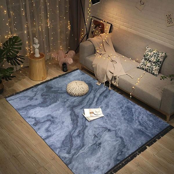 Siela | Exclusive | Waschbarer Teppich | Schwarz