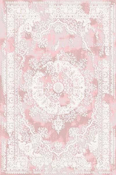 Flora Life Sound Teppich | Pink Grau Creme Beige