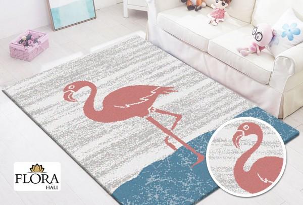 Flora Funny Area Kinderteppich | Flamingo