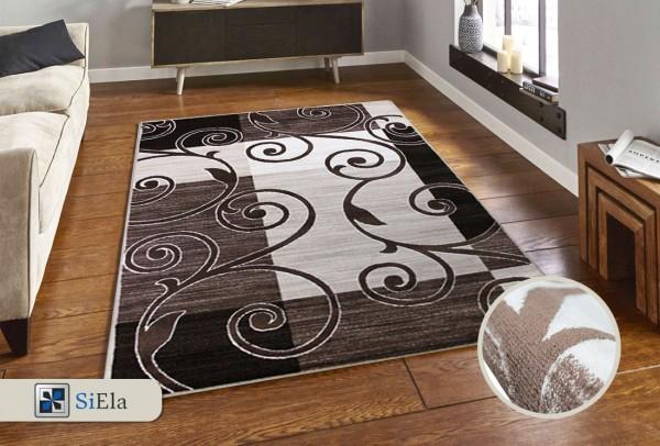 Siela Rosa May Teppich | 100% PP Heatset | Beige Grau
