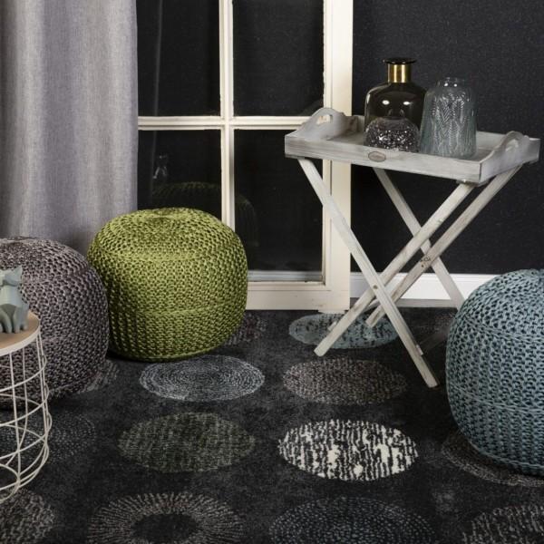 Obsession Best Away Teppich | Antracite Weiß