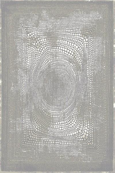 Merinos Mosaic Vintage Teppich |Grau