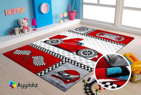 Ayyildiz Smiling Face Teppiche Formula | Kids | Kinderteppich | Rot Blua