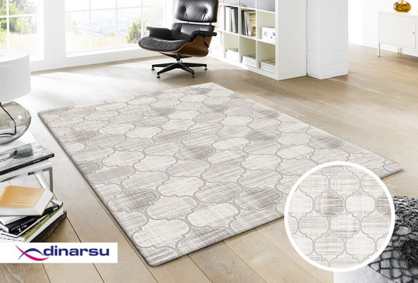 Dinarsu Queen City Teppich | Beige