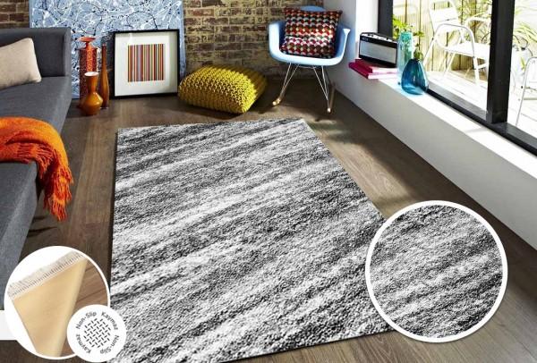 Siela | Waschbarer Teppich | Latex | 100% Polyester | Grau | S-1704-Gray