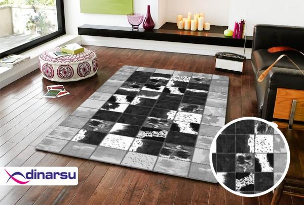 Dinarsu Summer Waschbarer Teppich | Schwarz Braun