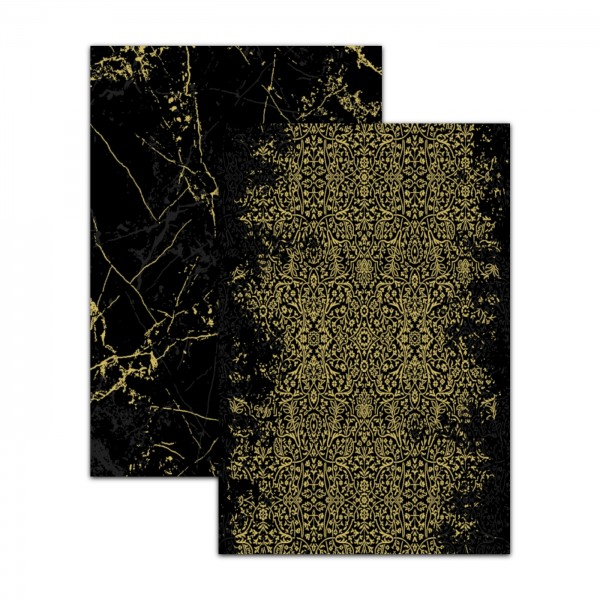Merinos | Luxury Series | Deluxe | Teppich | Schwarz & Gold