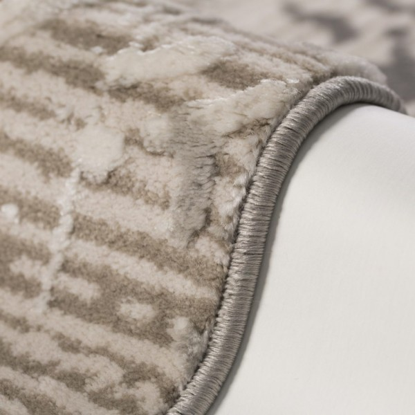 Obsession Swan Times Teppich | Silber Taupe