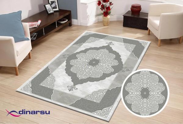 Dinarsu Valley Blossom Teppich | Grau